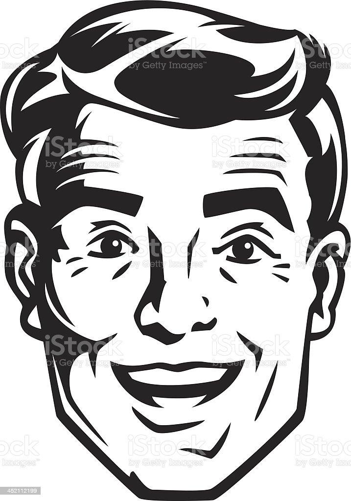Man S Face Line Drawing : Vintage hombre arte vectorial de stock y más imágenes