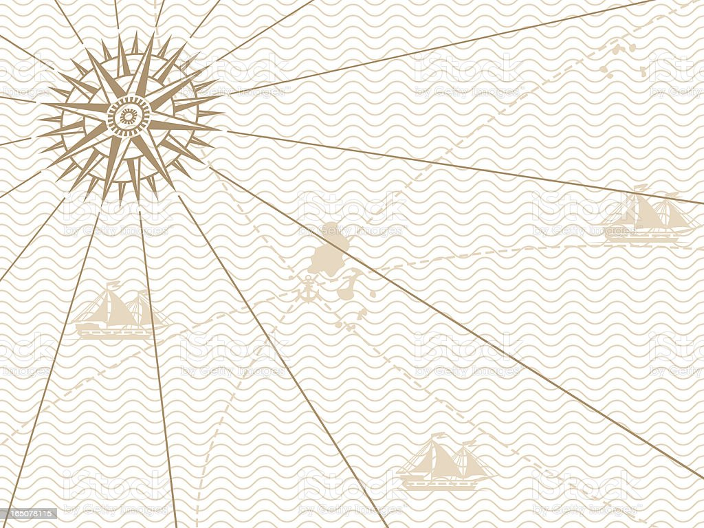 Vintage map background vector art illustration