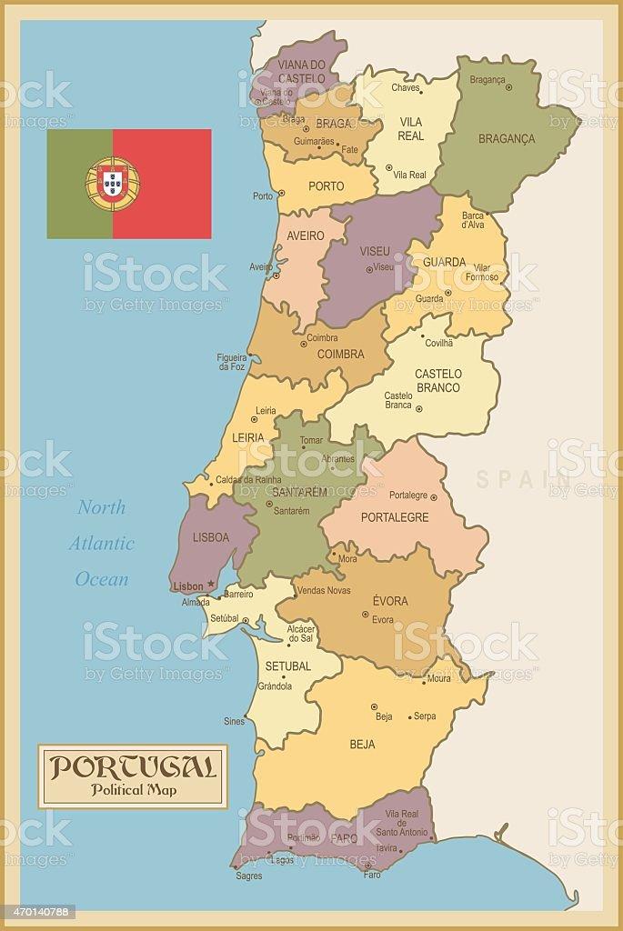 Vintage Mapa De Portugal Download Vetor E Ilustração - Portugal mapa