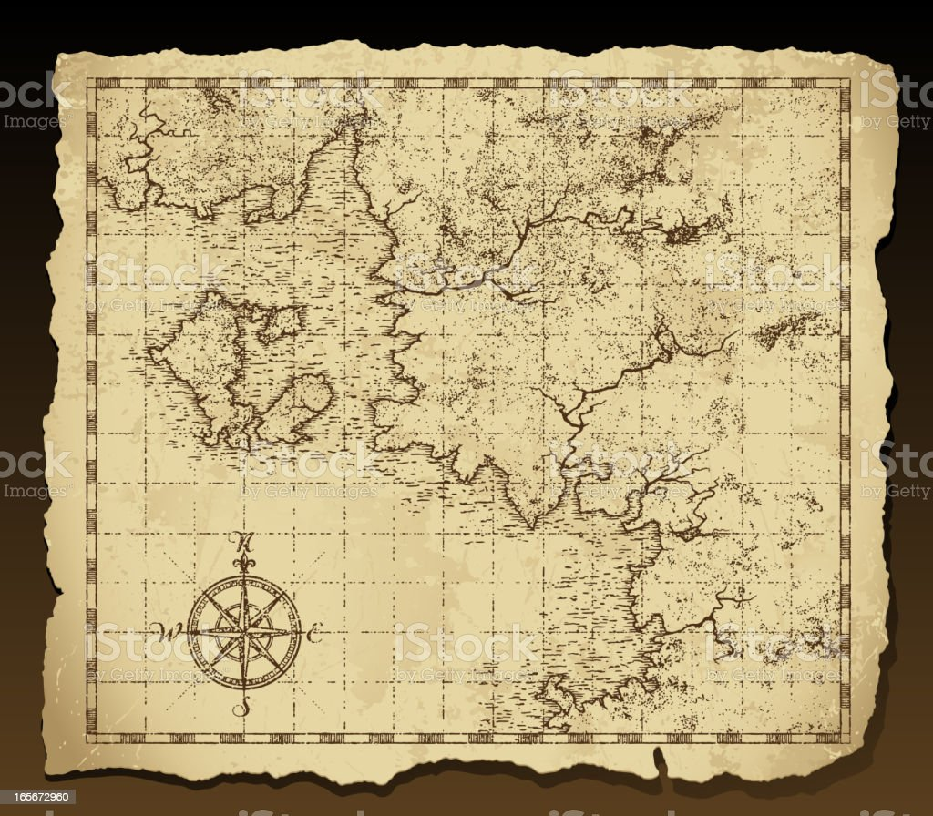 Vintage Map On Parchment Stock Vector Art & More Images of ...