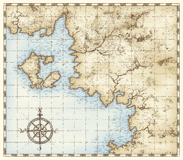 Best Nautical Chart Illustrations, Royalty-Free Vector