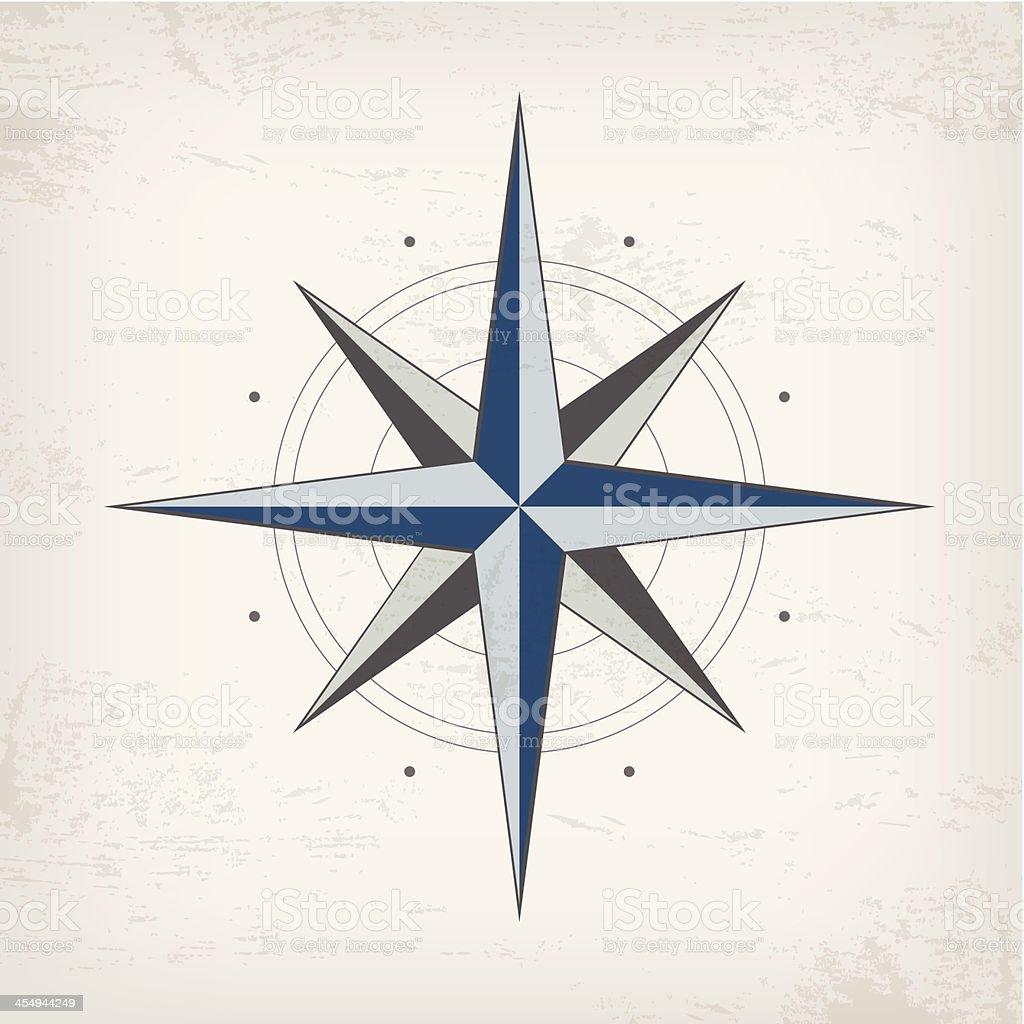 Carte Marine Vintage Avec Rose Des Vents – Cliparts vectoriels et