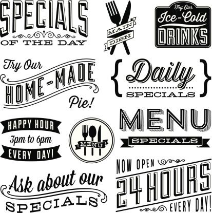 Vintage Menu Designs