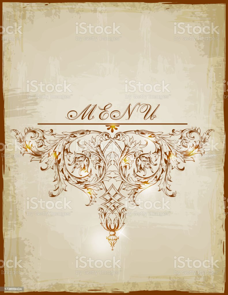 Vintage menu royalty-free stock vector art