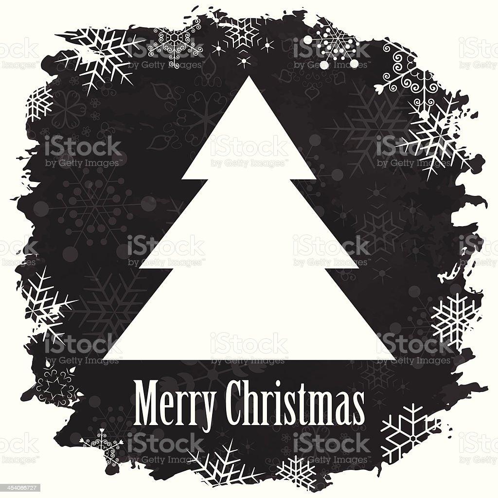 Vintage Buon Natale E Felice Anno Nuovo Sfondo - Immagini vettoriali stock  e altre immagini di Agrifoglio - iStock