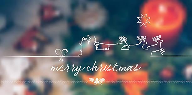 ilustrações, clipart, desenhos animados e ícones de vintage merry christmas line symbol on  blurred christmas background - advento