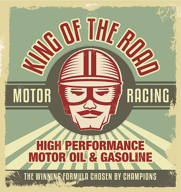 Vintage metal sign. Retro garage poster. vector art illustration