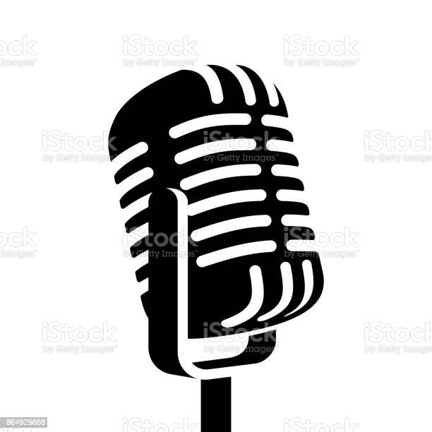 Vintage microphone sign vector illustration vector id864929658?b=1&k=6&m=864929658&s=612x612&h=fmmjphsvp45mn9sumcjxpsisshi8pocn1ljjnnx85fm=