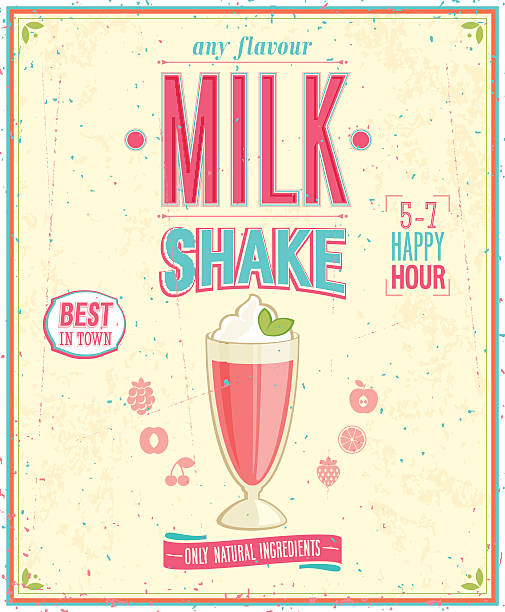 Best Milkshake Illustrations, Royalty-Free Vector Graphics