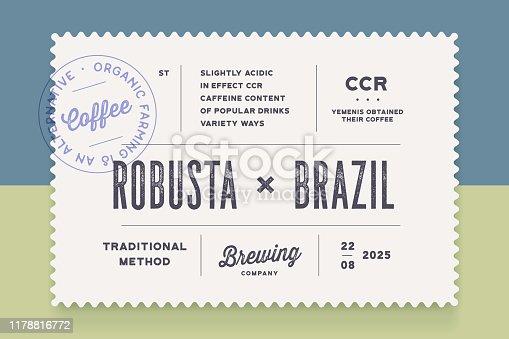 istock Vintage Minimal Label. Set of graphic modern vintage label 1178816772