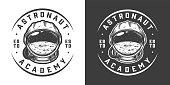 Vintage monochrome space logo