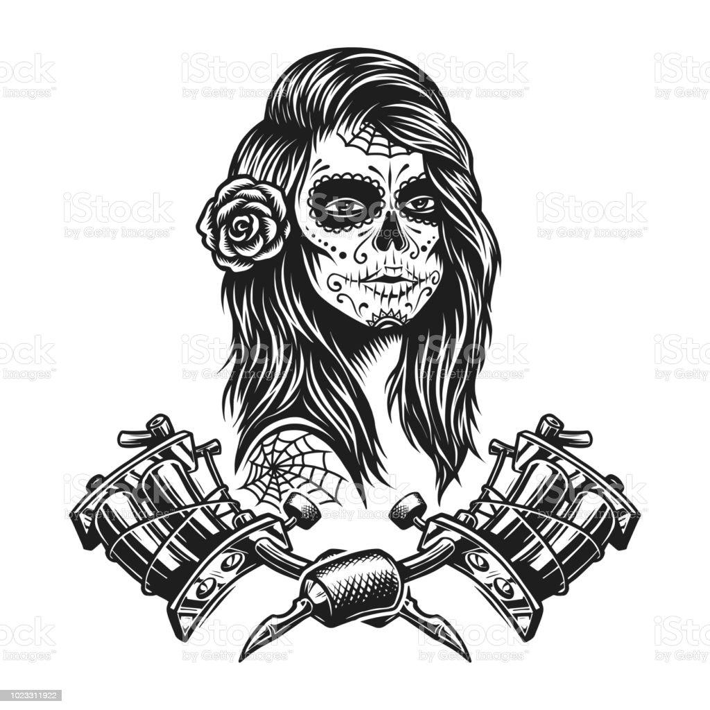 ビンテージ白黒タトゥー テンプレート tシャツのベクターアート素材や