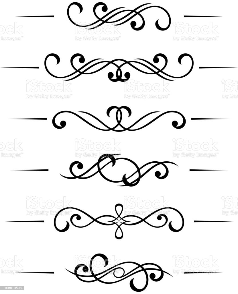 Vintage monograms royalty-free stock vector art