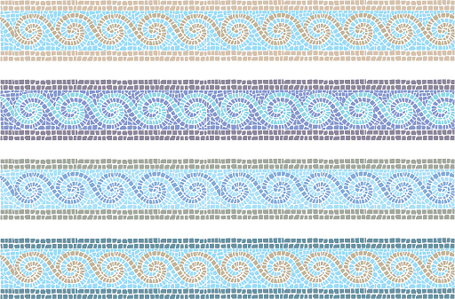 Vintage mosaic seamless border