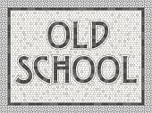 Vintage Mosaic Tile Typography Old School Design