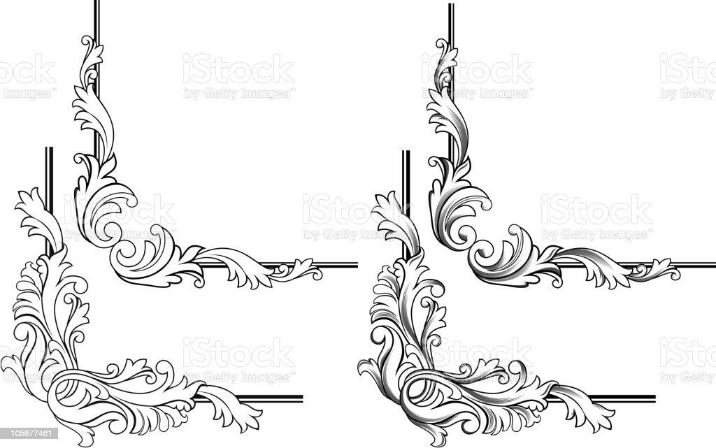 Vintage motifs royalty-free stock vector art