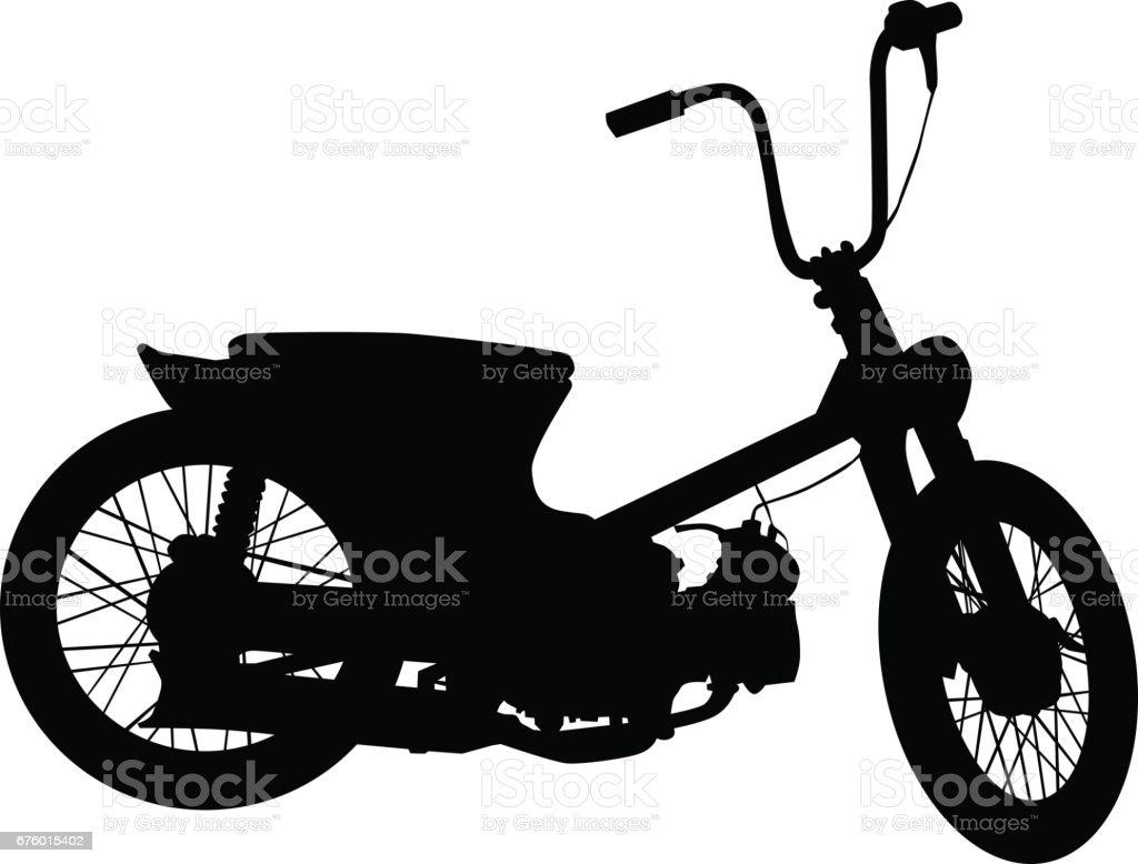 Vintage motor vehicle vector art illustration