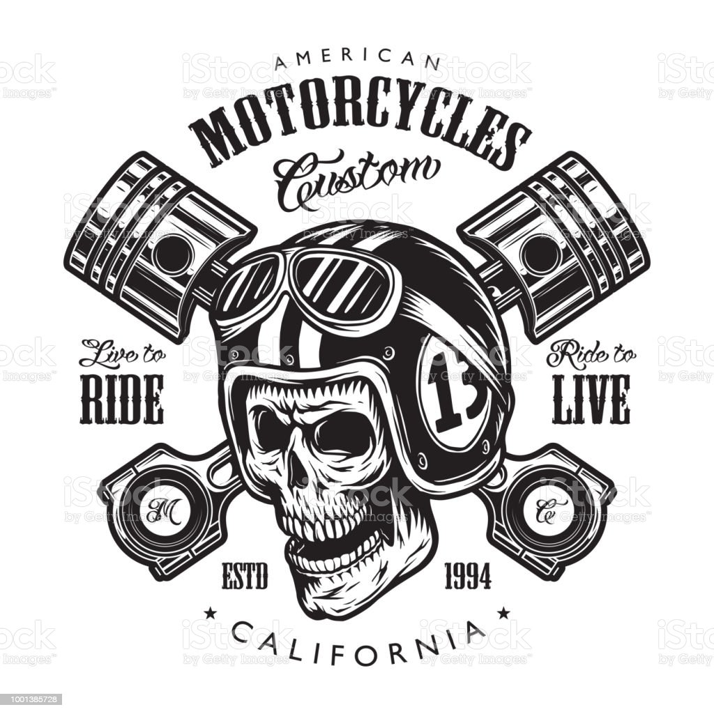 Oldtimer Motorradvorlage Stock Vektor Art und mehr Bilder von ...
