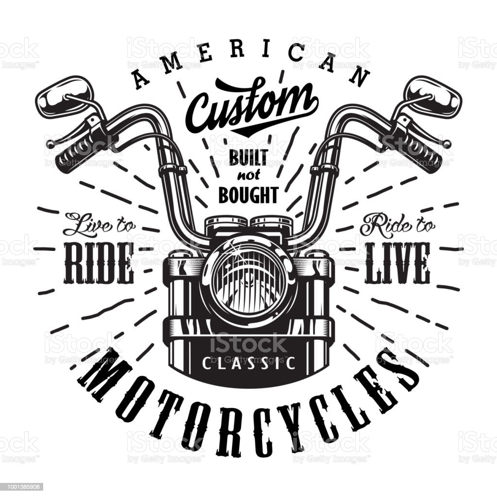 vintage motorcycle template stock vector art more images of badge