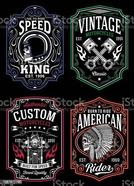 Vintage motorcycle tshirt graphic collection vector id1087477760?b=1&k=6&m=1087477760&s=612x612&h=xozmcyvbscgbzz nmlvzwgmbs8hl67v4ih0achoyeko=