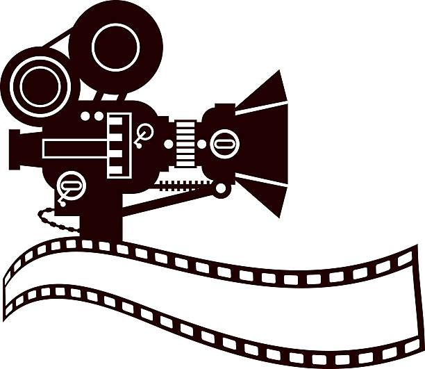 Royalty free movie camera clip art vector images for Camera film logo