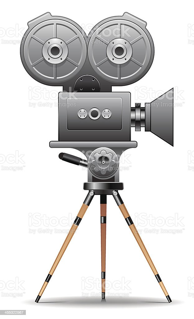 vintage movie camera stock vector art amp more images of