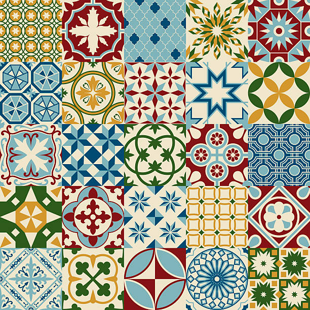 Tile pattern stock illustrations