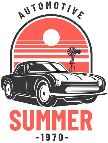 Vintage Muscle Car Badge