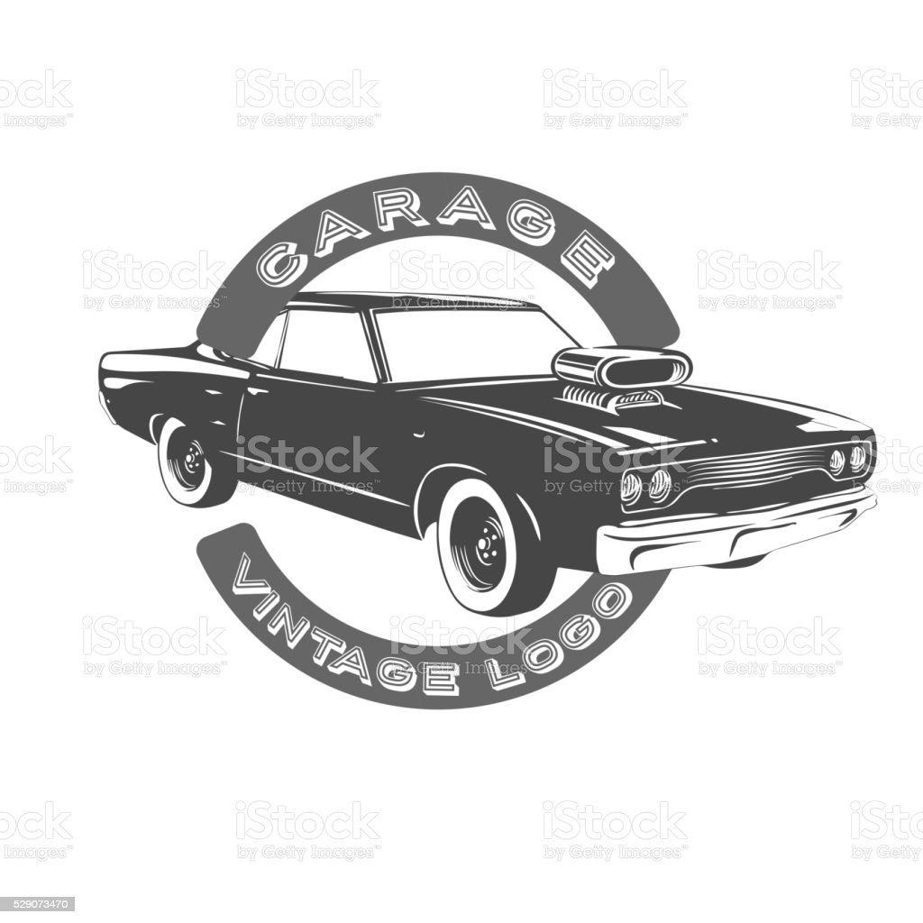 Vintage Muscle Car Stock Vector Art More Images Of 1970 1979
