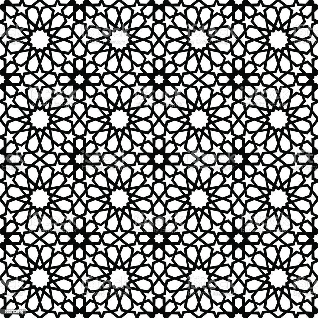 Vintage muslim mosaic tile background decoration art vector art illustration