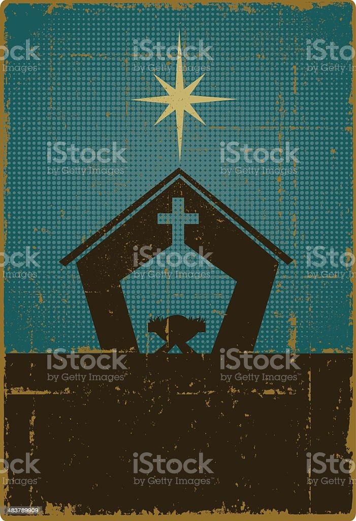 Vintage Nativity with Copy Space royalty-free vintage nativity with copy space stock vector art & more images of banner - sign