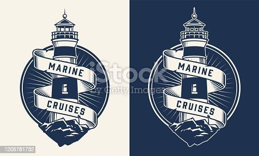 Vintage nautical label