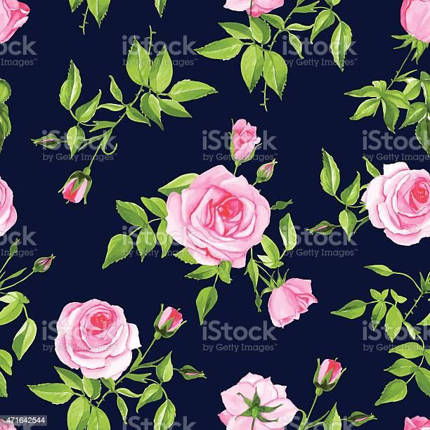 Vintage navy with pink rose seamless vector print vector id471642544?b=1&k=6&m=471642544&s=612x612&h=vqib5mxnoy5t9 zp 84ovvasxyui9 s6 ucs ibtej8=