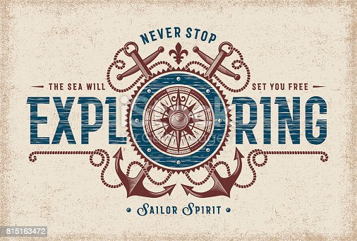 Vintage Never Stop Exploring Typography