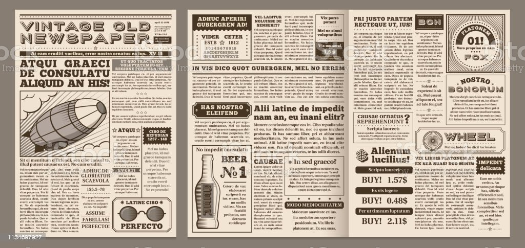 old newspaper illustrations  royalty