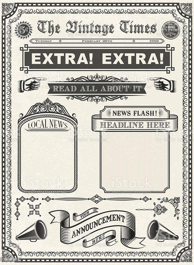 Vintage Newspaper royalty-free stock vector art