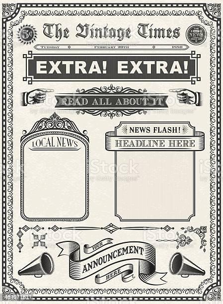 Vintage newspaper vector id481971611?b=1&k=6&m=481971611&s=612x612&h=bvtr3mstnyfahqdgrcj1fk2tqpy5eigb6hrcutlr5yw=