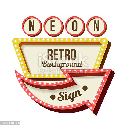 Vintage Night 3d Advertising Sign Stock Vector Art & More ...
