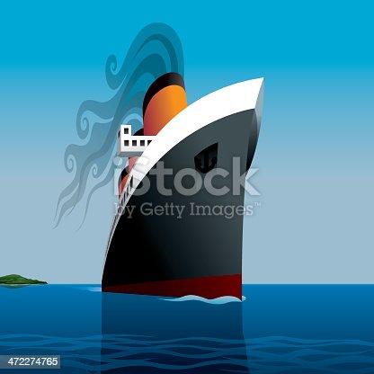 istock Vintage Ocean Liner 472274765