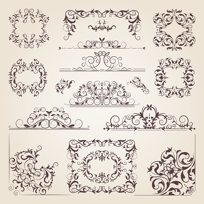 Filigree stock illustrations