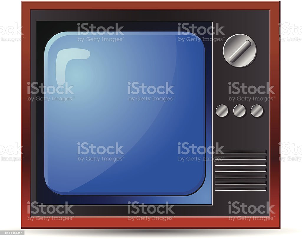 Vintage Old Television vector icon royalty-free stock vector art