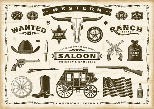 Vintage Old Western Set