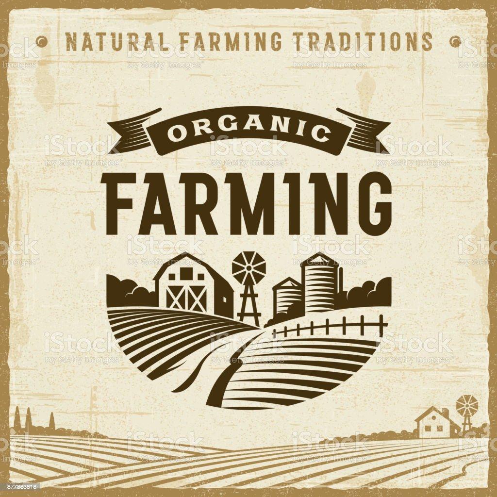 Vintage Organic Farming Label