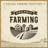 istock Vintage Organic Farming Label 877883818