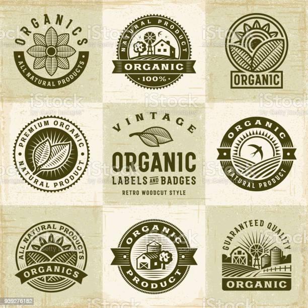 Vintage organic labels and badges set vector id939276182?b=1&k=6&m=939276182&s=612x612&h=4mt22aigxlw0lyci06catjzc yhin52olew1nucpca0=