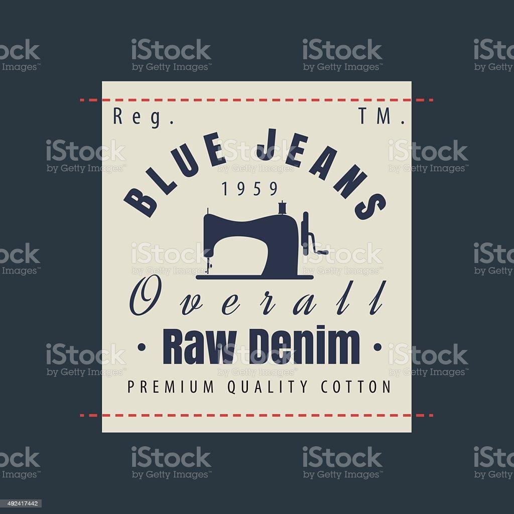 bbdaf14bc Ilustración de Blue Jeans Sin Procesar Originales De Vintage ...