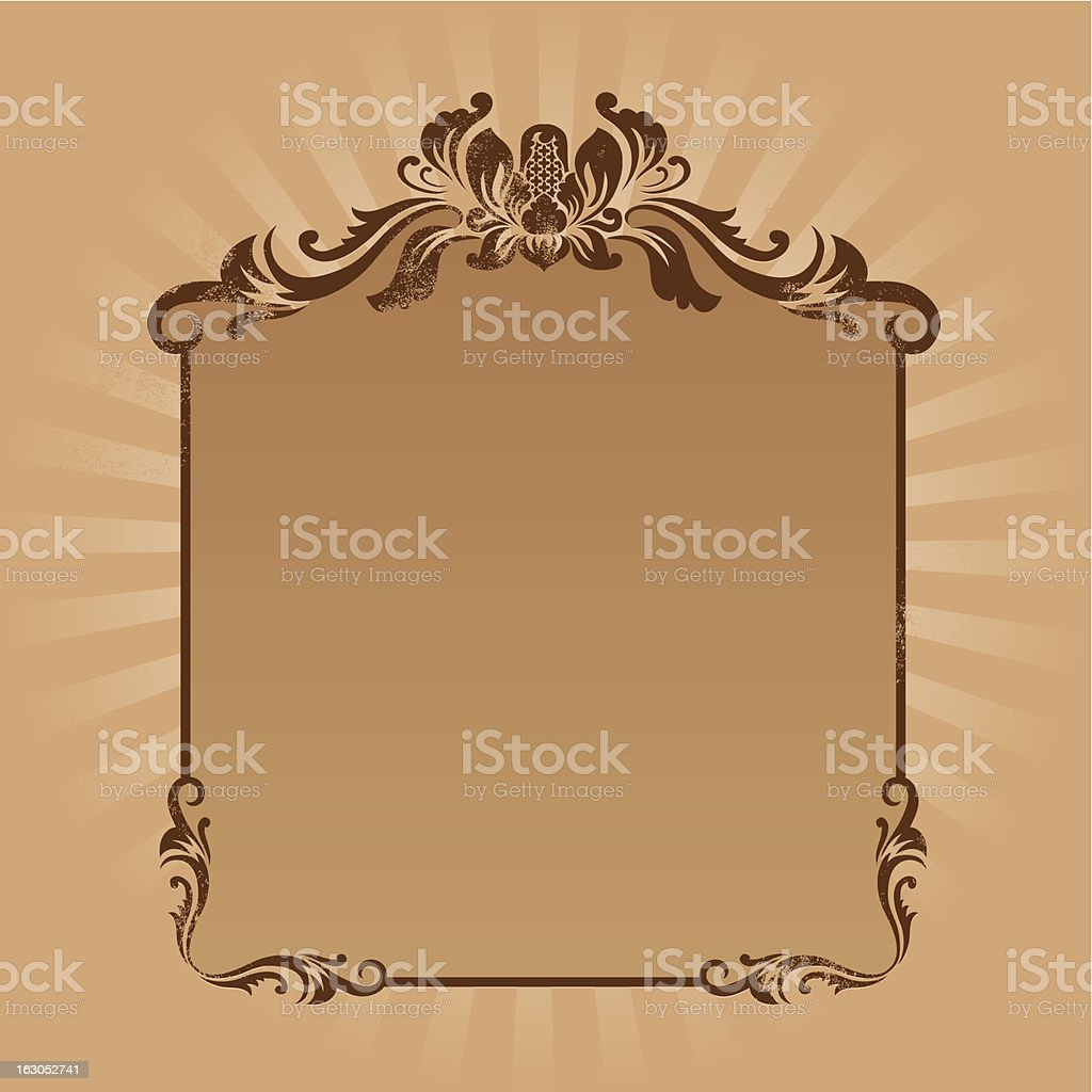 Vintage Ornament Frame royalty-free stock vector art