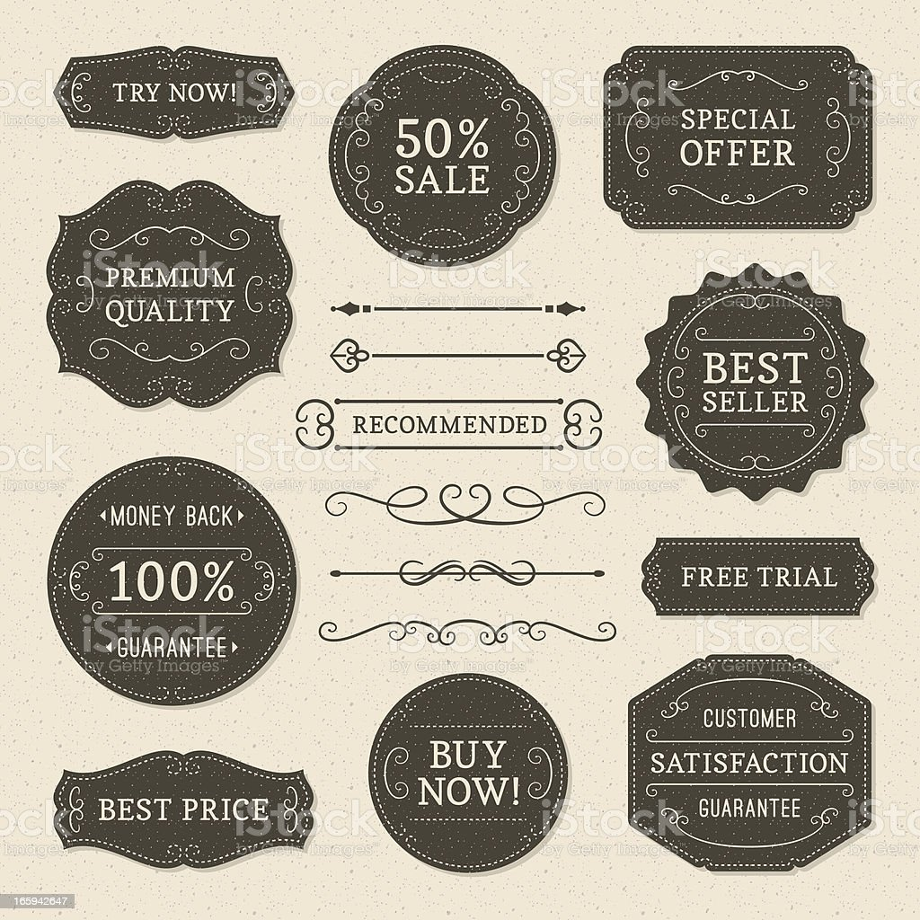 Vintage Ornaments and Labels royalty-free vintage ornaments and labels stock vector art & more images of advice