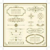 Set of vintage ornaments and labels. Each element is grouped,  extra files; Ai , EPS 10 , pdf, png, jpg (hi-res)