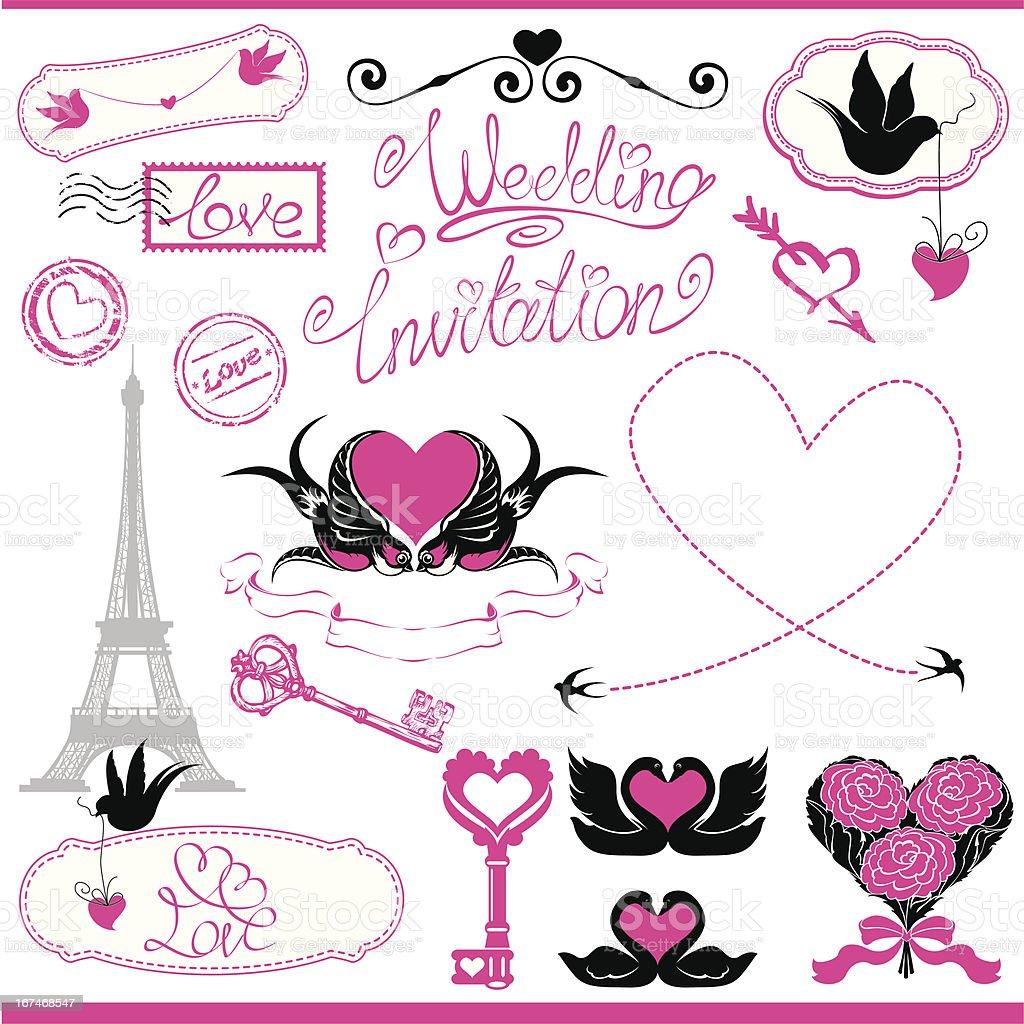 Vintage Ornamente Kalligrafische Designelementefur Hochzeit